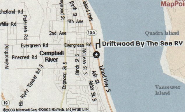Driftwood By The Sea RV Sites and Cottages for rent in Campbell River BC